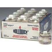 Hollowicks Liquid Tealight Disposable Fuel Cell, 13/16 inch Height -- 24 packs per case.