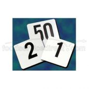 Update International Plastic Table Number - 1 to 25 Numbers, 4 x 4 inch -- 1 each.