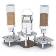 Smart Domino Double Cereal Dispensers and Milk Dispenser, 16.25 x 36.5 x 24.5 inch -- 1 each.