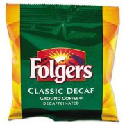 Folgers Ground Coffee, Fraction Pack, Classic Roast Decaf, 1.5oz, 42/Carton