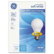 GE Halogen Bulb, Globe, 43 Watts, Soft White, 4/Pack
