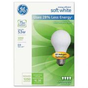 GE Energy-Efficient Soft White 53 Watt A19, 4/Pack