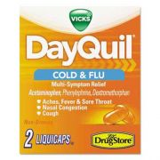 DayQuil Cold & Flu Caplets, Daytime, Refill, 20 Two-Packs/Box