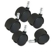 Master Caster Deluxe Duet Casters, 100 lbs./Caster, Nylon, B and K Stems, Hard, 5/Set