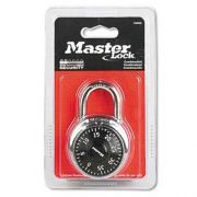 Master Lock Combination Lock, Stainless Steel, 1 15/16 inch Wide, Black Dial