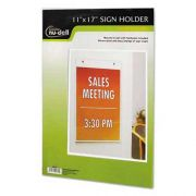 NuDell Clear Plastic Sign Holder, Wall Mount, 11 x 17