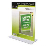 NuDell Clear Plastic Sign Holder, Stand-Up, 8 1/2 x 11