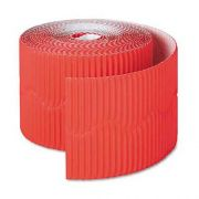 Pacon Bordette Decorative Border, 2 1/4 inch x 50 Roll, Flame Red