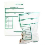 Quality Park Cash Transmittal Bags w/Printed Info Block, 6 x 9, Clear, 100 Bags/Pack