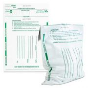 Quality Park Poly Night Deposit Bags w/Tear-Off Receipt, 8.5 x 10-1/2, Opaque, 100 Bags/Pack