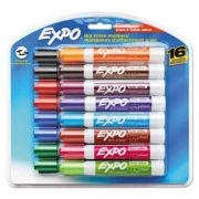 EXPO Low Odor Dry Erase Marker, Chisel Tip, Assorted, 16 per Set