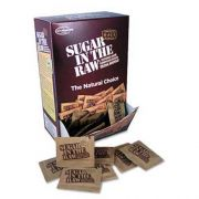 Sugar in the Raw Unrefined Sugar Made From Sugar Cane, 200 Packets/Box