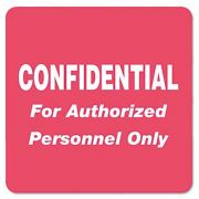 Tabbies Medical Labels for Confidential, 2 x 2, Red, 500/Roll