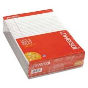 Universal Colored Perforated Note Pads, 8-1/2 x 11, Gray, 50-Sheet, Dozen