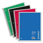 Universal Wirebound Notebook, 8-1/2 x 11, College Ruled, 120 Sheets, Assorted Color Cover