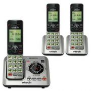 Vtech CS6629-3 Cordless Digital Answering System, Base and 2 Additional Handsets