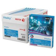 Xerox Vitality Multipurpose 3-Hole Punched Paper, 8 1/2 x 11, White, 5,000 Sheets/CT