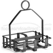Tablecraft Heavyweight Black Powder Coated Metal Condiment Rack -- 6 per case.