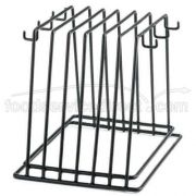 Tablecraft Black Vinyl Coated Rack Only with 6 Hook -- 1 each.