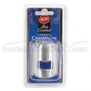 Tablecraft Cash and Carry Brushed Stainless Steel Champagne Stopper -- 6 per case.