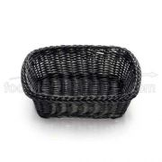 Tablecraft Handwoven Ridal Collectionl Rectangular Serving Basket - Black Color, 11 1/2 x 8 1/2 x 3 1/2 inch -- 6 per case.