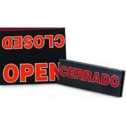 Board Sign - OPEN or CLOSED for Letterboard . Wide 10 inch -- 1 each.