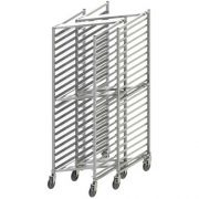 Winco Aluminum Nesting Style 20 Tier Sheet Pan Rack with Brake, 3 inch Spacing -- 1 each.