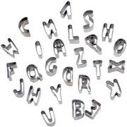 Winco Stainless Steel Letters 26 Piece Pastry Cutter Set -- 12 set per case.