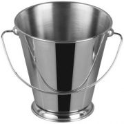 Winco Stainless Steel Mini Pail, 3 inch Dia x 3 1/8 inch Height -- 12 per case.