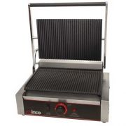 Winco Ribbed Plate Single Panini Grill, 14 inch -- 1 each.