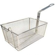 Winco Fry Basket with Grey Handle, 13 1/4 x 9 1/2 x 6 inch -- 6 per case.
