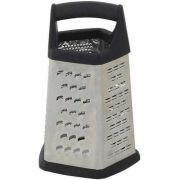 Winco Stainless Steel 5 Sides Grater with Soft Grip Handle -- 12 per case.