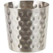 Winco Stainless Steel Hammered Satin Finish Fry Cup, 3 1/4 inch Dia x 3 1/2 inch Height -- 12 per case.
