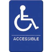 Winco Braille Accessible Information Sign, 6 x 9 inch -- 12 per case.