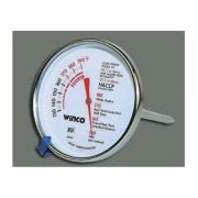 Winco Calibrated Black and White Dial Meat Thermometer, 3 inch -- 1 each.