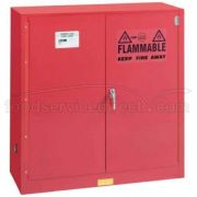 Lyon 18 Gauge Steel Red Self Closing Standard Class III Paint and Ink Storage Cabinet, 40 Gallon -- 1 each.