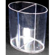 Royal Plasticware Miniatures Clear Divided Cup, 4 Ounce -- 200 per case.