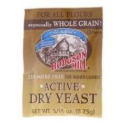 Hodgson Mill Active Dry Yeast, 8.75 G -- 48 Per Case.