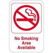 Co-Rect No Smoking Section Available Restaurant Compliance Bar Sign, 6 x 9 inch -- 72 per case.