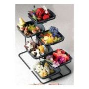 Bon Chef Sandstone Low Side Condiment Stand, 14 7/8 x 12 9/32 inch -- 1 each.