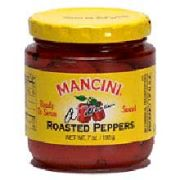 Mancini Roasted Red Peppers - 7 oz. jar, 12 jars per case