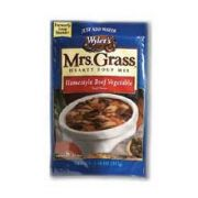 Mrs. Grass Homestyle Beef Vegetable Hearty Soup Mix - 7.48 oz. package, 8 per case