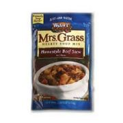 Mrs. Grass Hearty Homestyle Beef Stew Mix - 5.57 oz. package, 8 per case