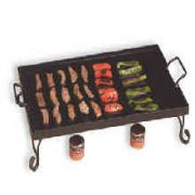 Wrought Iron Griddle With Stand -- 1 Each