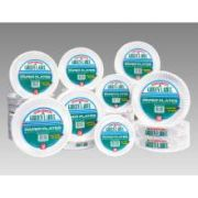 AJM Packaging White Uncoated Green Label Paper Plate, 9 inch -- 1000 per case.