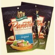 Nonnis New York Style Hole Punch Garlic Panetini Paunches, 4.75 Ounce -- 12 per case.