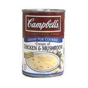 Campbells Condensed Cream of Chicken and Mushroom Soup - 10.75 oz. can, 12 per case