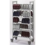 Cambro Camshelving Speckled Gray Dome Drying and Storage Cart, 36 x 18 x 75 inch -- 1 each.