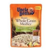 Uncle Bens Whole Grain Medley Roasted Garlic Ready Rice, 8.5 Ounce -- 12 per case.