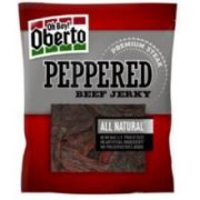 Oberto Natural Style Peppered Beef Jerky, 3.25 Ounce -- 8 per case.